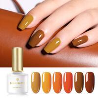 BORN PRETTY 6ml Pumpkin Color Series UV Gel Polish Soak Off Nail Art Gel Varnish
