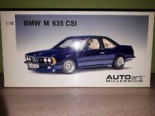 Autoart bmw m635i e24 1984 en azul oscuro-metalizado 1:18 incl. caja original rar!!!