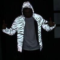 Reflective zebra stripes men and women casual windbreaker jacket