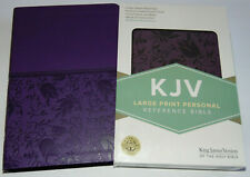 KJV Holy Bible, Large Print, Purple Leather-Touch Cover, King James Version