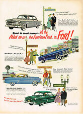 Vintage 1952 Magazine Ad Ford Coast To Coast Success Ablest Car On American Road