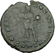 THEODOSIUS I  the Great  392AD  Ancient Roman Coin RARE CHI-RHO Christ i22185