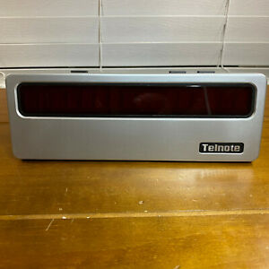 Used Telnote TL-1215 Large Screen Caller ID Clock LED Display