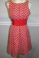 Frock by Tracy Reese orange and white EBMROIDERY  dress size 6 (DR 1000)