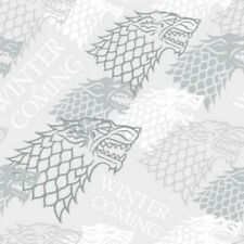 Fat Quarter Game Of Thrones Cotton Quilting Fabric Winter Is Coming House Stark