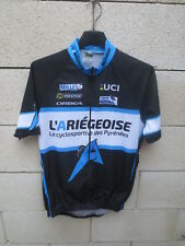 Maillot cycliste L'ARIEGEOISE UCI noir FFC shirt IN INVERSE camiseta M
