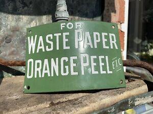 Enamel waste paper and orange peel enamel advertising sign