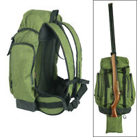 Hunting Backpack Travel Rucksack Rifle Shotgun Holster Camping Trekking-Tourbon