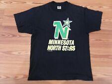 Vintage 1989 Minnesota North Stars T-Shirt Large Black Defunct Nhl Nice Look 👀
