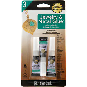 Aleene's 3 JEWELRY & METAL GLUE CLEAR Instant Adhesive ULTRA CONTROL WATER PROOF