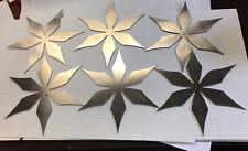 Waterjet Cut Aluminum Stars Craft Thin Sheet Scrap Metal Flat Steampunk