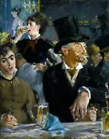 At the Café by French  Edouard Manet. Life Art .  11x14 Print