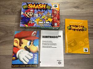 Nintendo 64 N64 Super Smash Bros. Original Box & Manual Only No Game Cartridge
