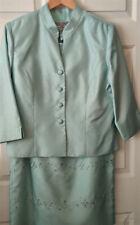 LADY'S LINED 2PC DRESS SUIT, LIGHT GREEN BY JESSICA HOWARD, SIZE 14 PETITE
