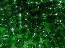 GREEN transparent matte 6//0 E 45 grms Czech seed E beads BBB