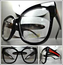 OVERSIZE VINTAGE RETRO CAT EYE Style Clear Lens EYE GLASSES Black Tortoise Frame