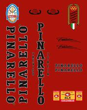 PINARELLO TREVISO 1984 OLYMPIC EDITION FRAME DECAL SET BLACK/SILVER