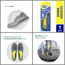 Scholl Gel Activ Work Men S Insoles Insert One Size Work Shoes and Boots Cushion