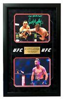 Justin Gaethje Signed Inscribed UFC Framed 8x10 Photo Collage JSA COA Autograph