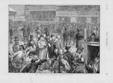 1874 - Antique Print  SPORT Horse Racing Derby Day Betting Ring Binoculars (239)