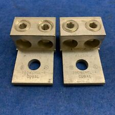 (Lot Of 2) Burndy K2A31U mechanical lug 2 pole lug Aluminum