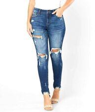 Buckle KanCan Womens 29 x 28 Signature Kurvy Mid-Rise Skinny Ripped Denim Jeans