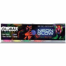 Global Face & Body Paint Set - Neon Glow