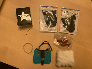 7+ piece Accessory Lot to fit Gene/16 Inch Doll, Purse, Shoes,Gene Ornament,More