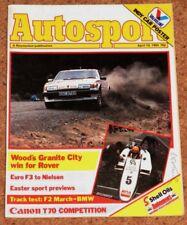 Autosport 19/4/84* F2 MARCH 842 TRACK TEST - MORENO F2 POSTER - OPEL ASCONA 400