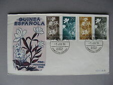 SPANISH GUINEA, cover FDC 1956, flowers