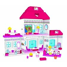 Hello Kitty Mega Bloks Big Dream House Mansion Children Kids Toy Easy Building