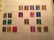 great britain machins scott #'s 132 to 160 missing 139, 141,144,147,148, 150,152