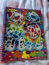 Lisa Frank Spotty and Dotty 2 Puppies NEW Sparkly Glitter spiral notebook