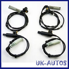 New 4pcs Front Rear ABS Wheel Speed Sensor for BMW E46 34521164651 34521164652