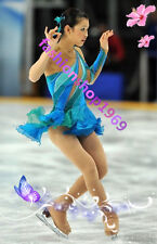 2017 Turquoise Ice Figure Skating Dress Baton Twirling Dress Competitio xx338