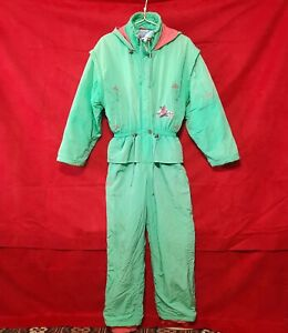 Vintage OLYMPIC Winter Snowboard snowsuits Ski suit made by France Size 40N