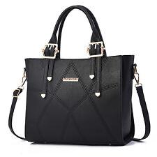 Schwarz Leder Damentasche Shopper Bag Handtasche Schultertasche Tragetasche Groß