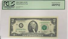 1938-J 2003A $2 FEDERAL RESERVE NOTE PCGS 68PPQ SUPERB GEM NEW SERIES BILL 68