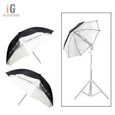 "Universal 2pcs 33""/84cm Removable reflective black and white Softlight umbrella"