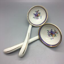 ANTIQUE GRIMWADES WINTON WARE SPOONS  WITH FRUIT TREE DESIGN