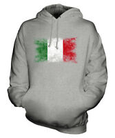 ITALY DISTRESSED FLAG UNISEX HOODIE TOP ITALIA FOOTBALL ITALIAN GIFT