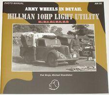 HILLMAN 10HP LIGHT UTILITY VEHICLE British Army Car WW2 Minx Military Tilly