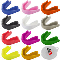 AG Air Gel Gum Shield Mouth Guard Boxing MMA Adult/Child Rugby Boxing With Case