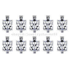 K255 10X/lot Silver Alloy 23mm Love Square Real Pearl Oysters Beads Locket Cage