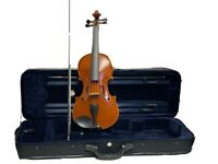Violin 4/4  CBA-210 Serie Violin solid wood flamed hand-carved