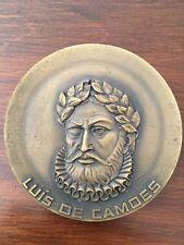 Beautiful rare antique bronze medal dedicated to Luís de Camões