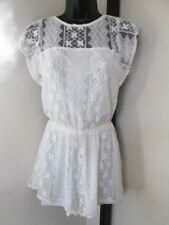 BNWT LADIES LOVELY CREAM LACE ALL-IN-ONE PLAYSUIT SIZE 6 EU 34