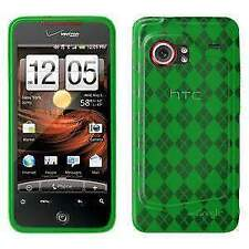 AMZER GREEN LUXE ARGYLE SKIN BACK CASE COVER FOR HTC DROID INCREDIBLE PB31200