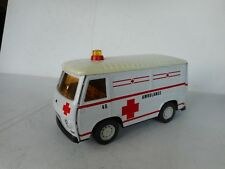 Joustra Peugeot J7  Ambulance 70er Jahre Blech Spielzeug France Tin Toy RARE!!