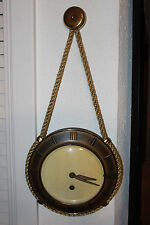 HERMLE MADE IN GERMANY HANGING ROPE NAUTICAL WALL CLOCK